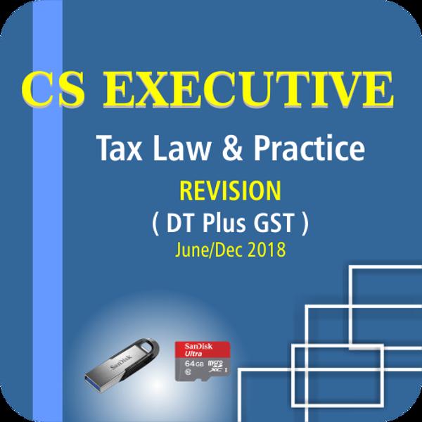 Picture of CS EXECUTIVE TAX LAW & PRACTICE ( DT PLUS GST) ( JUNE / DCE 18)