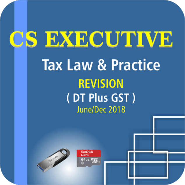Picture of CS EXECUTIVE TAX LAW & PRACTICE ( DT PLUS GST) ( JUNE / DCE 18)