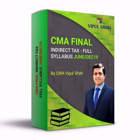 Picture of CMA FINAL INDIRECT TAX - FULL SYLLABUS JUNE/DEC19 - Book