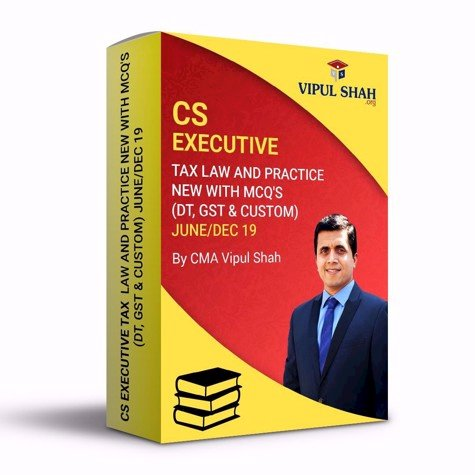 Picture of CS EXECUTIVE TAX LAW AND PRACTICE - NEW (DT, GST & CUSTOM) JUNE/DEC 19 - Book