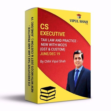 Picture of CS EXECUTIVE TAX LAW AND PRACTICE - NEW (GST & CUSTOM ) JUNE /DEC 19 - Book