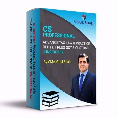 Picture of CS PROFESSIONAL ADVANCE TAX LAW & PRACTICE - OLD ( DT PLUS GST& CUSTOM) JUNE/DEC 19 - Book