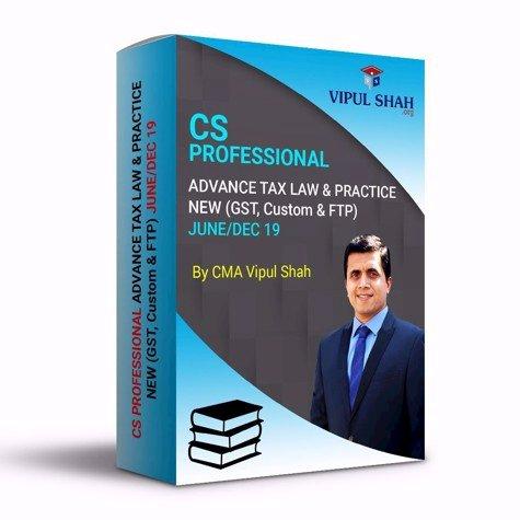 Picture of CS PROFESSIONAL ADVANCE TAX LAW & PRACTICE- NEW (GST & CUSTOM) JUNE/DEC 19 - Book