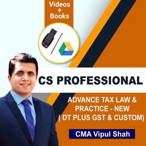 Picture of CS PROFESSIONAL ADVANCE TAX LAW & PRACTICE - NEW ( DT PLUS GST & CUSTOM) (JUNE / DCE 20)