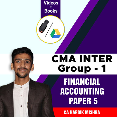 Picture of CMA Inter Group 1 - Financial Accounting by CA Hardik Mishra